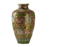 Florero de bronce antiguo Fotos de archivo