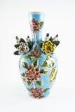 Florero de cerámica, çini Foto de archivo