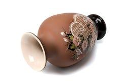 Florero de cerámica Fotografía de archivo