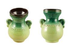 Florero de cerámica aislado Fotos de archivo