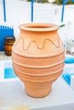 Florero de cerámica del estilo griego, detalle arquitectónico Foto de archivo