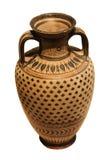 Florero de cerámica del griego clásico Fotos de archivo