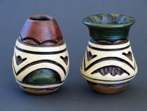 Florero de cerámica típico Foto de archivo libre de regalías