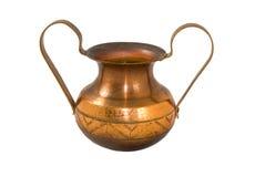 Florero de cobre Imagen de archivo libre de regalías