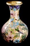 Florero de cobre amarillo Imagen de archivo