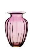 Florero de cristal, fondo blanco fotografía de archivo
