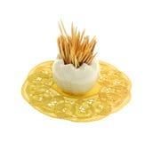 Florero de cristal minúsculo de los Toothpicks Imagenes de archivo