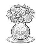 Florero de flores stock de ilustración