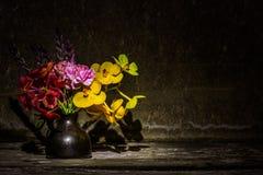 Florero de flores secadas Fotografía de archivo