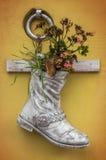 Florero de la bota Imagen de archivo