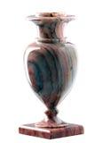 Florero de la piedra decorativa aislado en blanco Imagenes de archivo