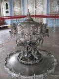 Florero de la plata de Estambul del palacio de Topkapi Imagen de archivo