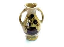 florero de la porcelana en el fondo blanco Foto de archivo libre de regalías