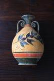 Florero de la naranja del griego clásico foto de archivo libre de regalías