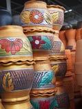 Florero de los potes del tarro Foto de archivo libre de regalías
