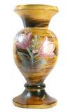 Florero de madera imagen de archivo