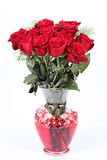 Florero de rosas foto de archivo libre de regalías