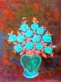 Florero del corazón Fotos de archivo