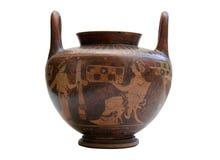 Florero del griego clásico aislado Imagen de archivo libre de regalías