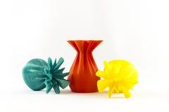 florero del objeto de la impresión 3D Fotos de archivo