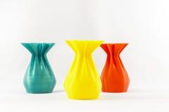 florero del objeto de la impresión 3D Fotografía de archivo libre de regalías