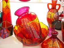 Florero del vidrio de la bella arte Fotos de archivo