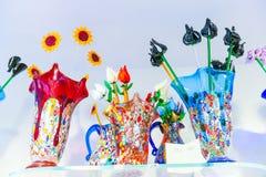 Florero del vidrio de Murano Fotos de archivo