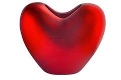 Florero en la forma del corazón. Fotos de archivo libres de regalías