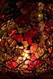 Florero hecho en casa del vidrio manchado Fotos de archivo libres de regalías