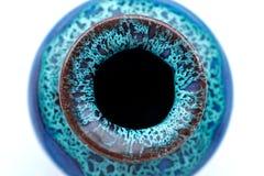 Florero modelado azul Foto de archivo libre de regalías