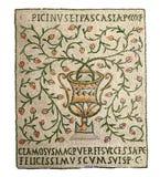 Florero - mosaicos antiguos Imagenes de archivo