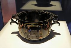 Florero romano de Pompeii Imágenes de archivo libres de regalías