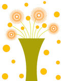 Florero verde ilustración del vector