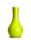 Florero verde aislado Fotos de archivo