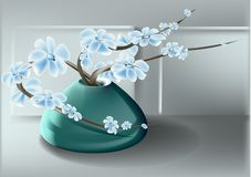florero y flor Imagenes de archivo