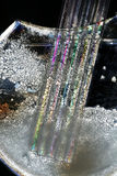 Florero y paja de cristal abstractos Fotos de archivo