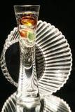 Florero y tazón de fuente de cristal Fotos de archivo libres de regalías