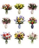 Floreros aislados de flores Fotos de archivo libres de regalías