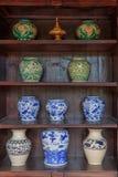 Floreros antiguos chinos Fotos de archivo libres de regalías