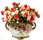 Floreros con las flores Foto de archivo libre de regalías