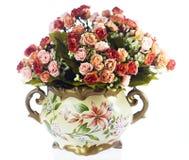 Floreros con las flores Imágenes de archivo libres de regalías