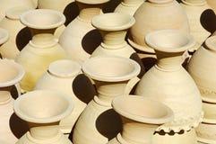 Floreros de cerámica Imágenes de archivo libres de regalías
