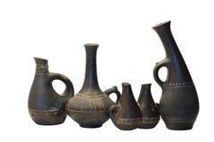 Floreros de cerámica antiguos Imagen de archivo