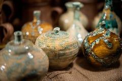 Floreros de cerámica de moda Fotografía de archivo