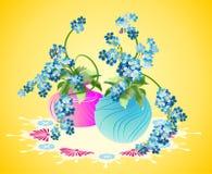 Floreros de flores Foto de archivo libre de regalías