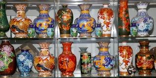 Floreros del chino tradicional fotografía de archivo libre de regalías