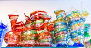 Floreros del vidrio de Murano Fotografía de archivo