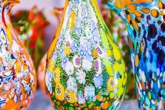 Floreros del vidrio de Murano Imagenes de archivo