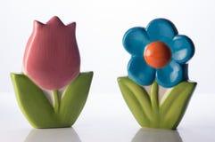 Floreros florales Fotos de archivo