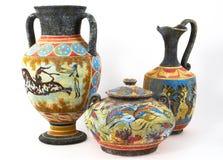 Floreros griegos Imagenes de archivo